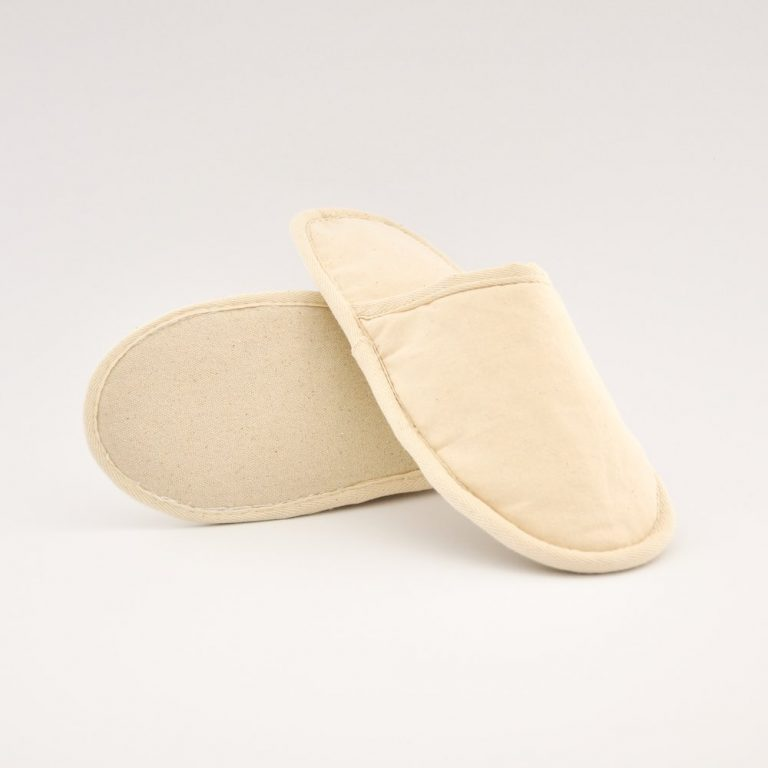100% cotton eco-friendly slippers