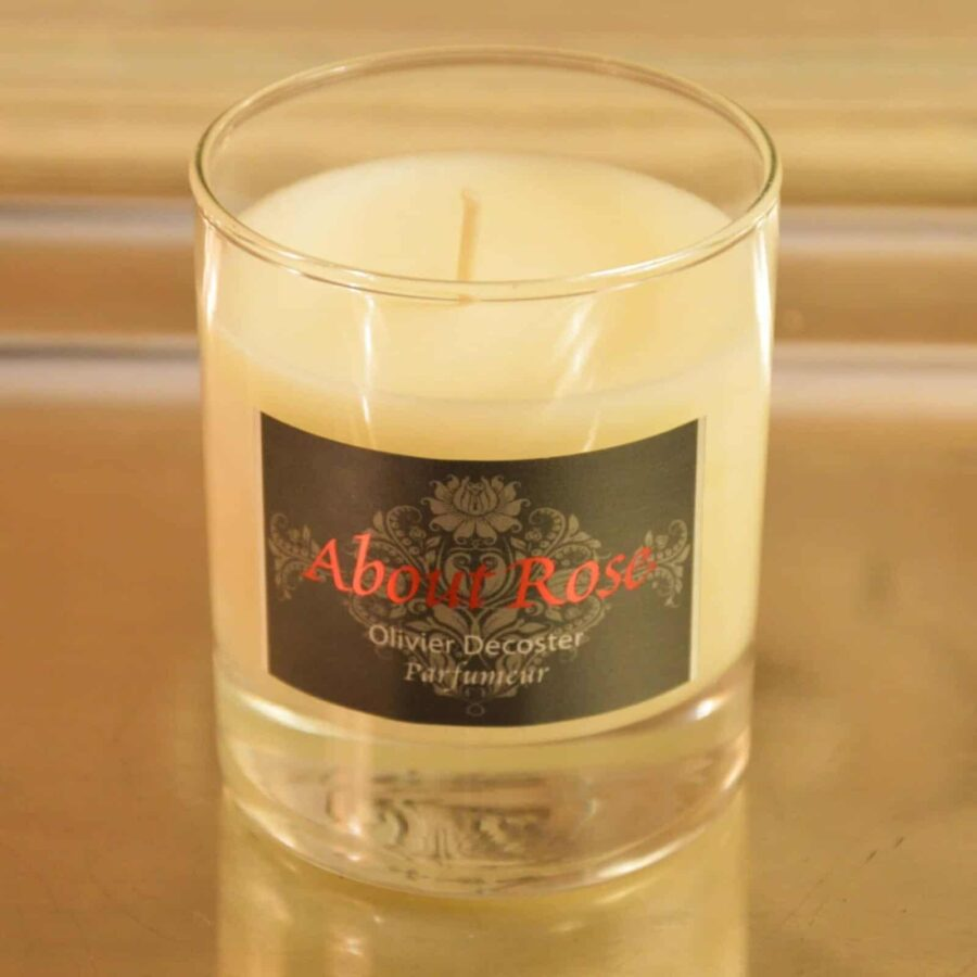 Perfumed Candle Natural Handmade | About Rose Love Letters